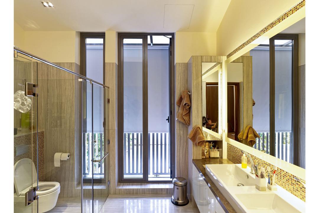 26 Dyson Road, TENarchitects, Contemporary, Bathroom, Landed, Vanity Counter, Recessed Lighting, Window Pane, Sink, Indoors, Interior Design, Room
