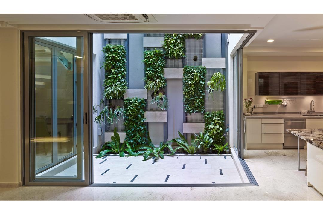 26 Dyson Road, TENarchitects, Contemporary, Balcony, Landed, Vertical Gardens, Garden, Door, Folding Door, Window, Flora, Jar, Plant, Potted Plant, Pottery, Vase, Ivy