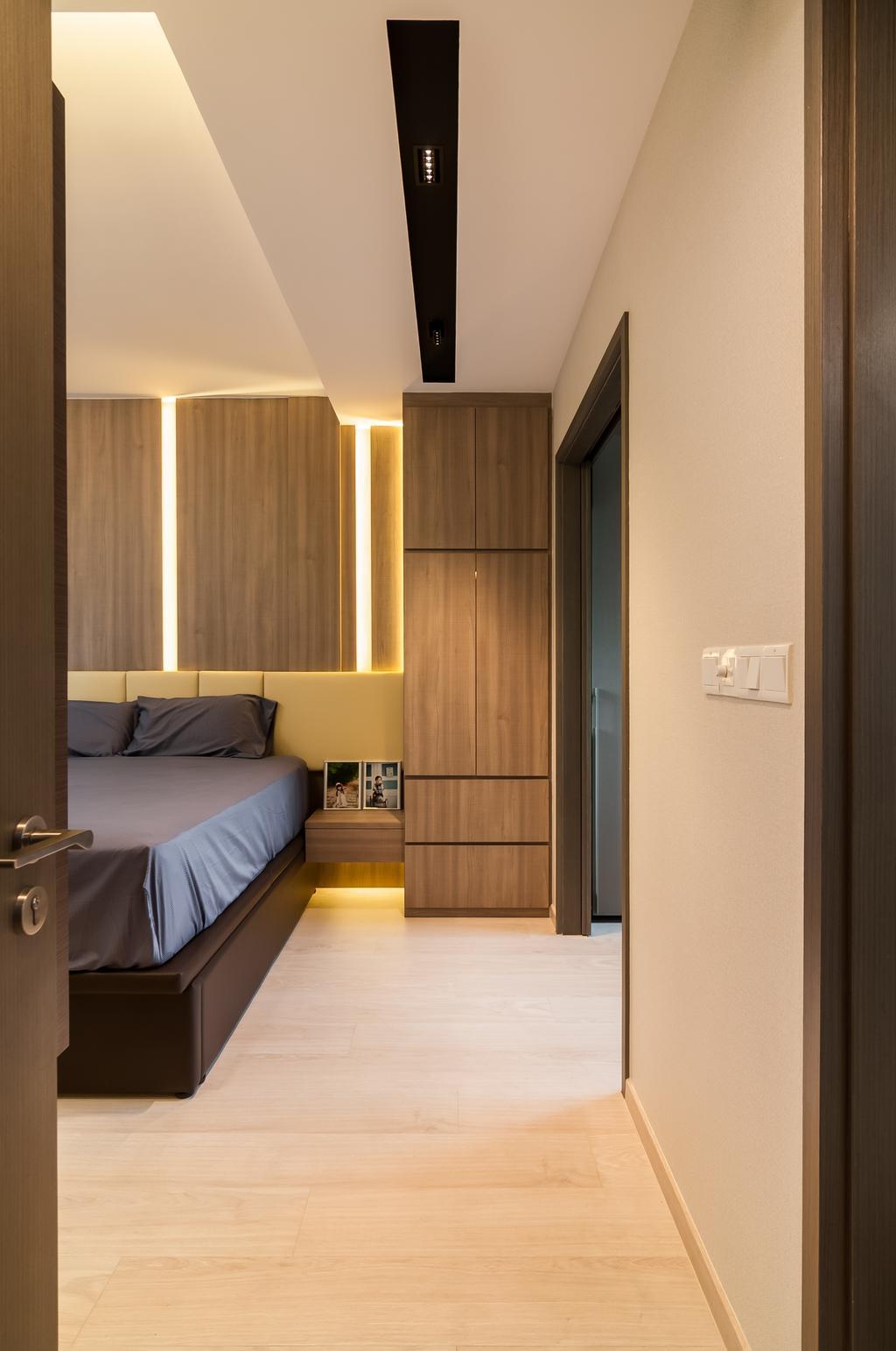 Contemporary, Condo, Bellewaters, Interior Designer, ID Sense, Bedroom, Indoors, Interior Design, Room, HDB, Building, Housing