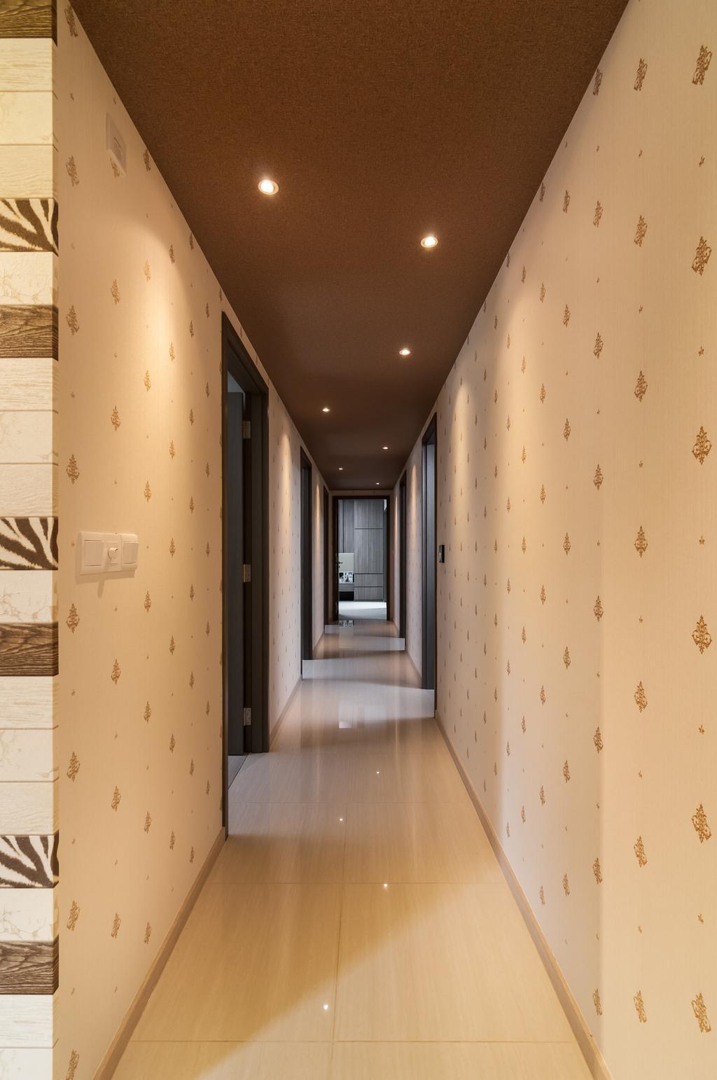 Contemporary, Condo, Bellewaters, Interior Designer, ID Sense, Corridor