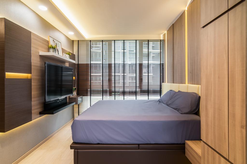 Contemporary, Condo, Bedroom, Bellewaters, Interior Designer, ID Sense, Bed, Furniture, Indoors, Interior Design