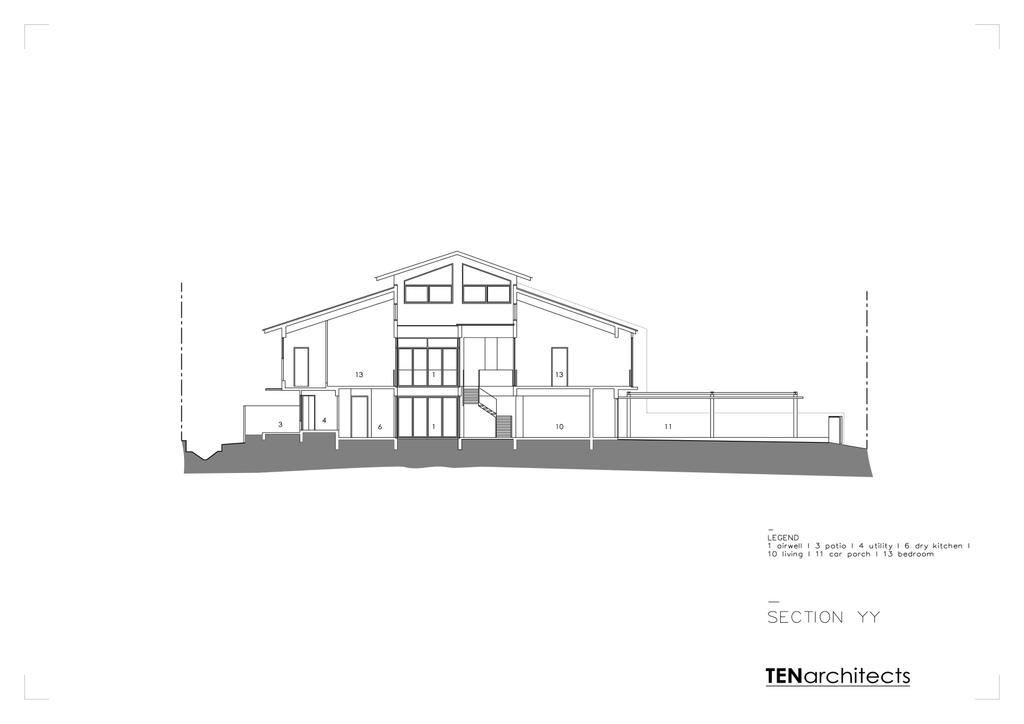 Contemporary, Landed, 26 Dyson Road, Architect, TENarchitects, Floor Plan, Diagram, Plan