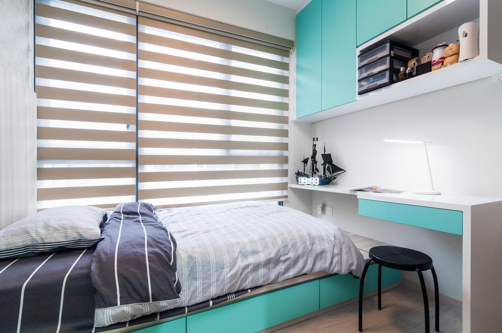 Contemporary, Condo, Bedroom, Bellewaters, Interior Designer, ID Sense, Bed, Furniture