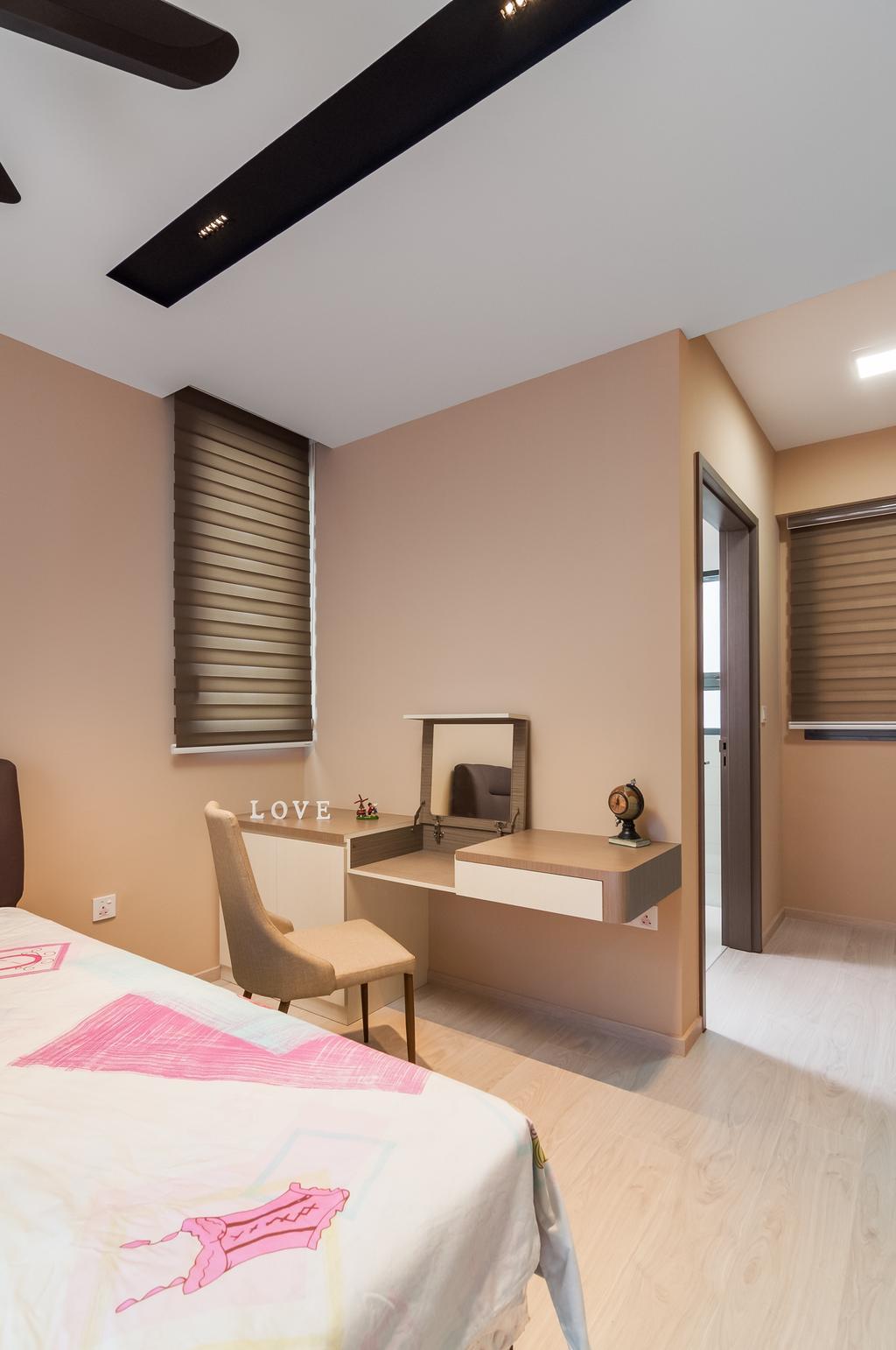 Modern, Condo, Bedroom, Bellewaters, Interior Designer, ID Sense, Molding, Indoors, Interior Design