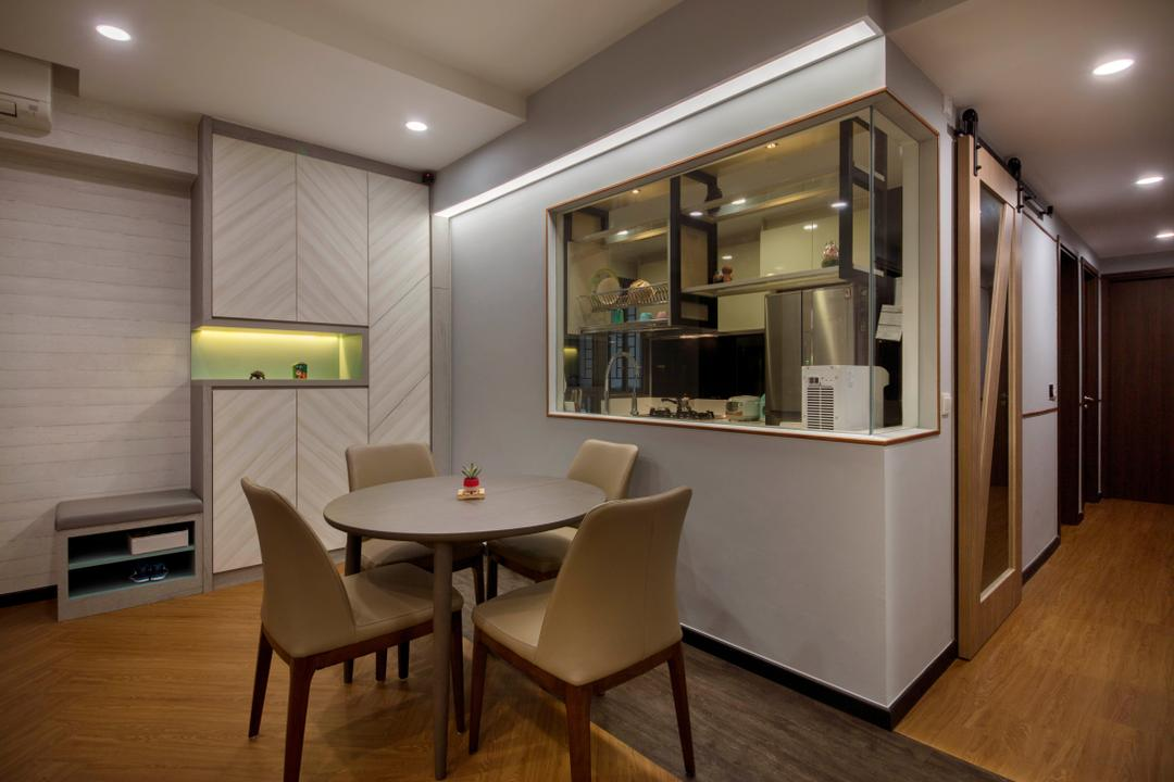 Signature @ Yishun, Starry Homestead, Eclectic, Dining Room, Condo, Chair, Furniture, Dining Table, Table, Indoors, Interior Design, Room, Basement