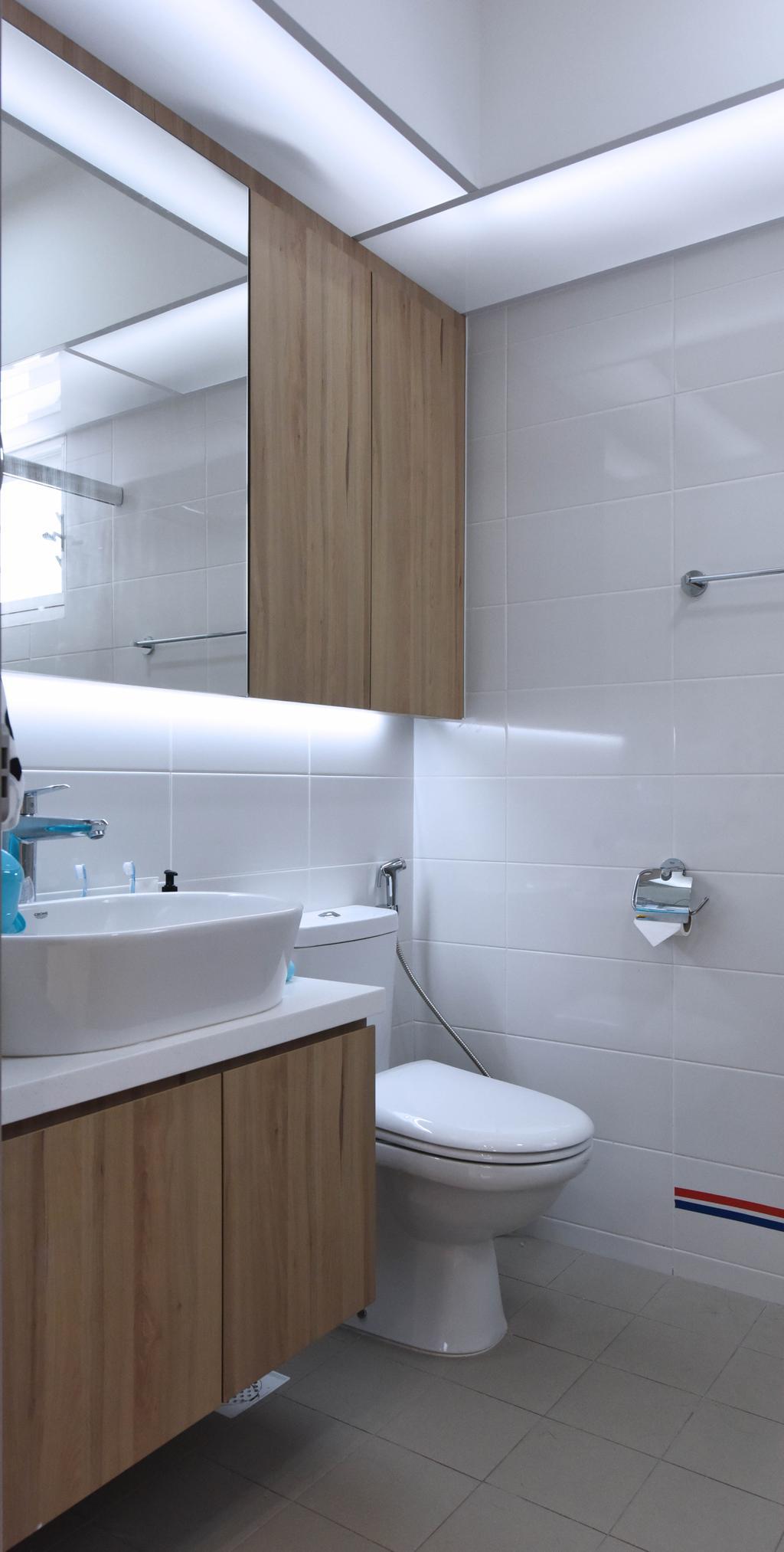 Scandinavian, HDB, Bathroom, Sumang Lane (Block 220A), Interior Designer, Starry Homestead, Indoors, Interior Design, Room