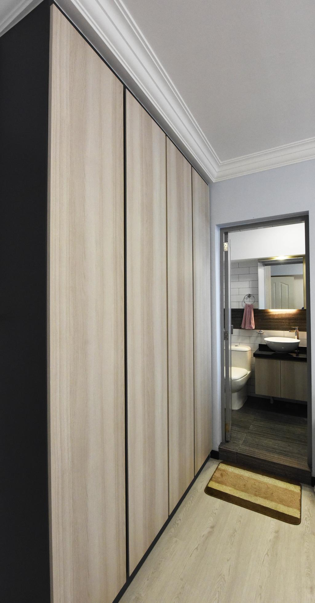 Modern, HDB, Bedroom, Compassvale Road, Interior Designer, Starry Homestead, Sink, Bathroom, Indoors, Interior Design, Room, Toilet, Plywood, Wood