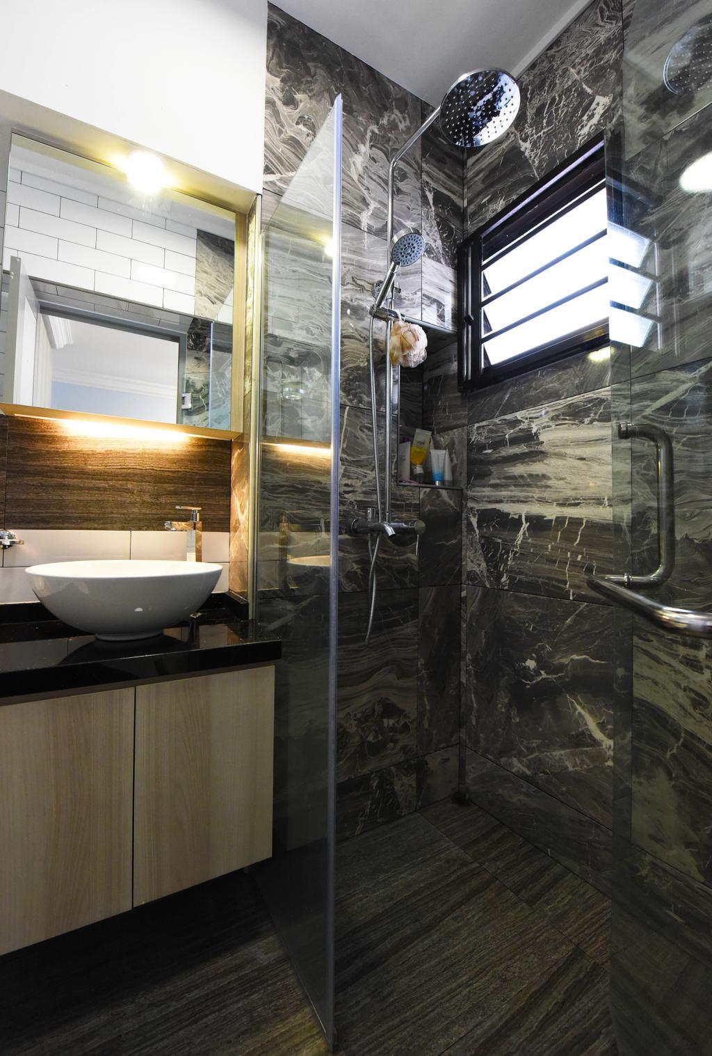 Modern, HDB, Bathroom, Compassvale Road, Interior Designer, Starry Homestead