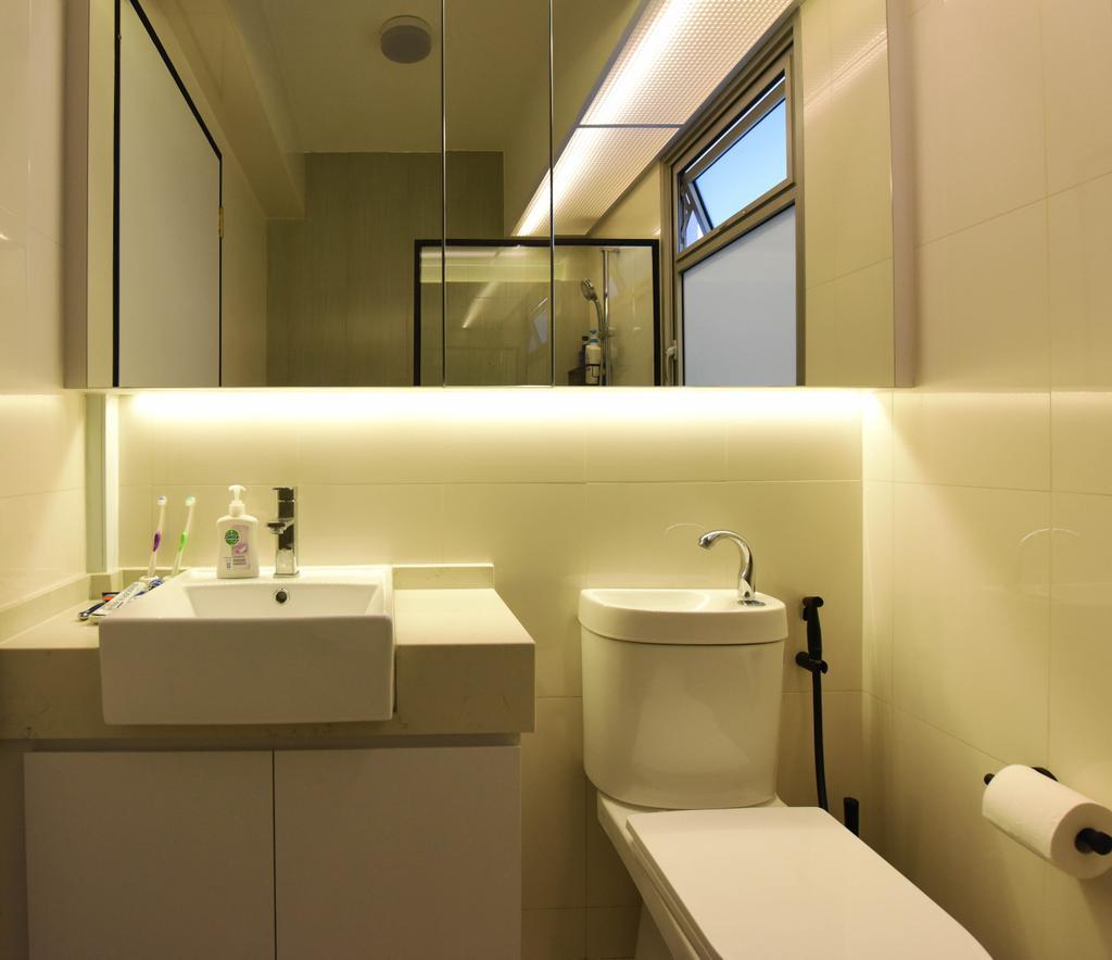 Industrial, HDB, Bathroom, Sumang Lane (Block 233B), Interior Designer, Starry Homestead, Minimalist, Indoors, Interior Design, Room, Door, Sliding Door