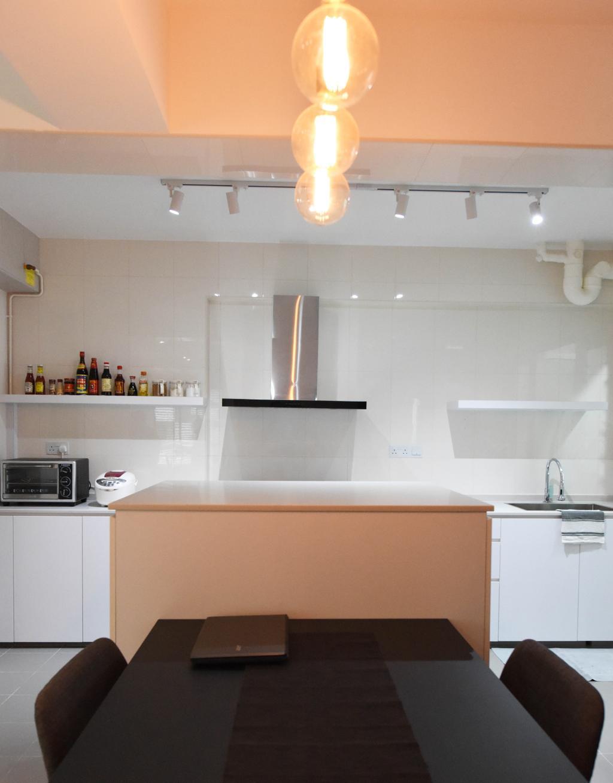 Industrial, HDB, Kitchen, Sumang Lane (Block 233B), Interior Designer, Starry Homestead, Minimalist, Indoors, Interior Design, Room, Bathroom