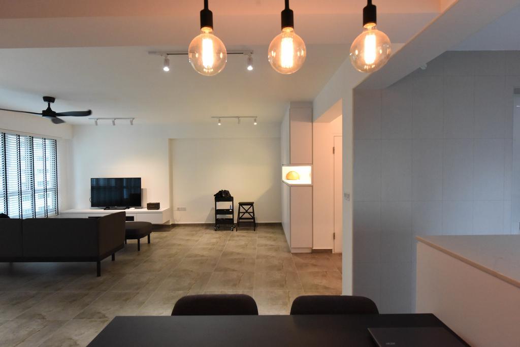 Industrial, HDB, Living Room, Sumang Lane (Block 233B), Interior Designer, Starry Homestead, Minimalist, Couch, Furniture, Conference Room, Indoors, Meeting Room, Room