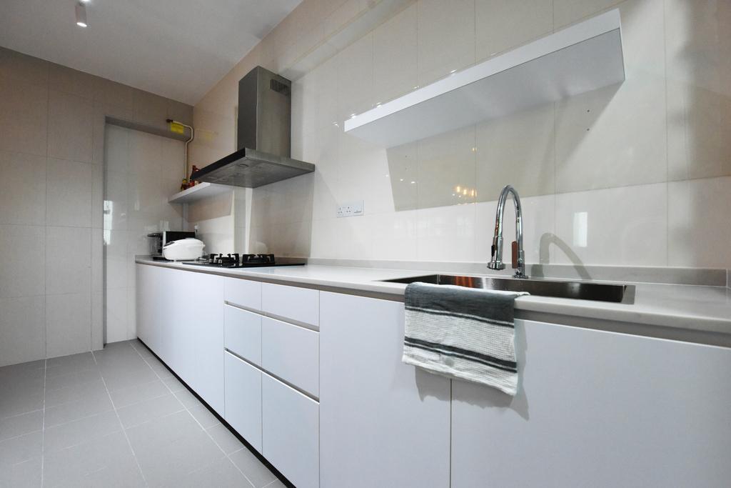 Industrial, HDB, Sumang Lane (Block 233B), Interior Designer, Starry Homestead, Minimalist, Indoors, Interior Design, Kitchen, Room