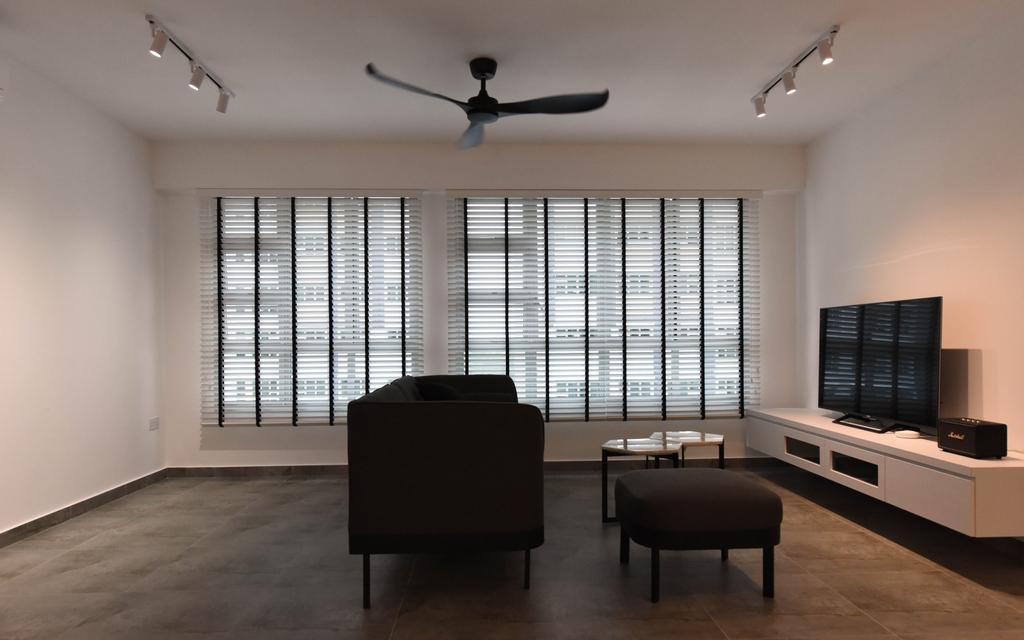 Industrial, HDB, Living Room, Sumang Lane (Block 233B), Interior Designer, Starry Homestead, Minimalist, Chair, Furniture, Dining Room, Indoors, Interior Design, Room