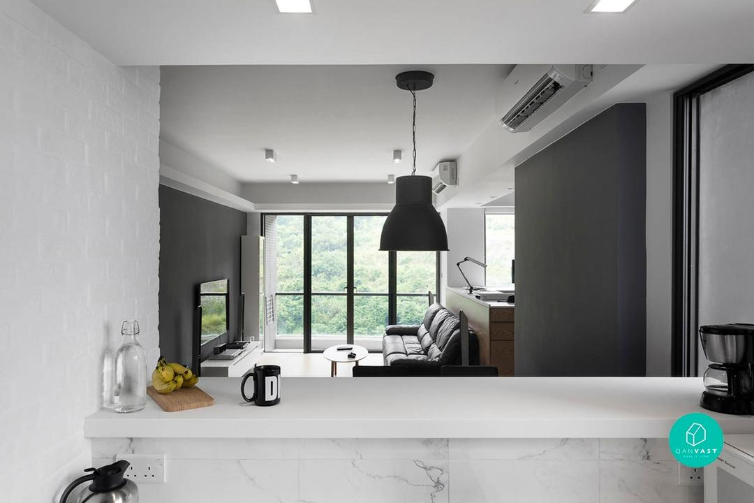 Simple monochrome homes in Hong Kong