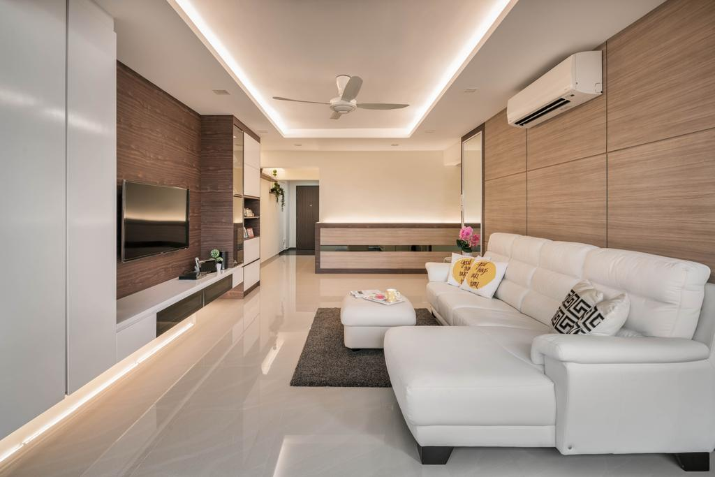 Minimalistic, HDB, Living Room, Clementi Avenue 6, Interior Designer, Stylemyspace, Couch, Furniture, Indoors, Interior Design