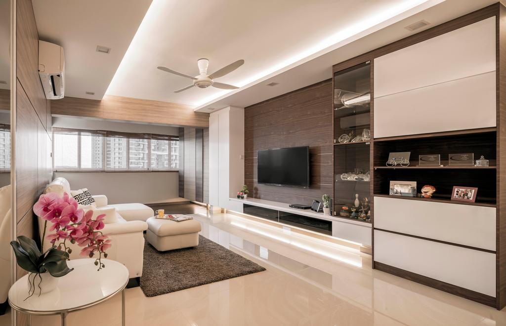Minimalistic, HDB, Living Room, Clementi Avenue 6, Interior Designer, Stylemyspace, Indoors, Interior Design, Electronics, Entertainment Center