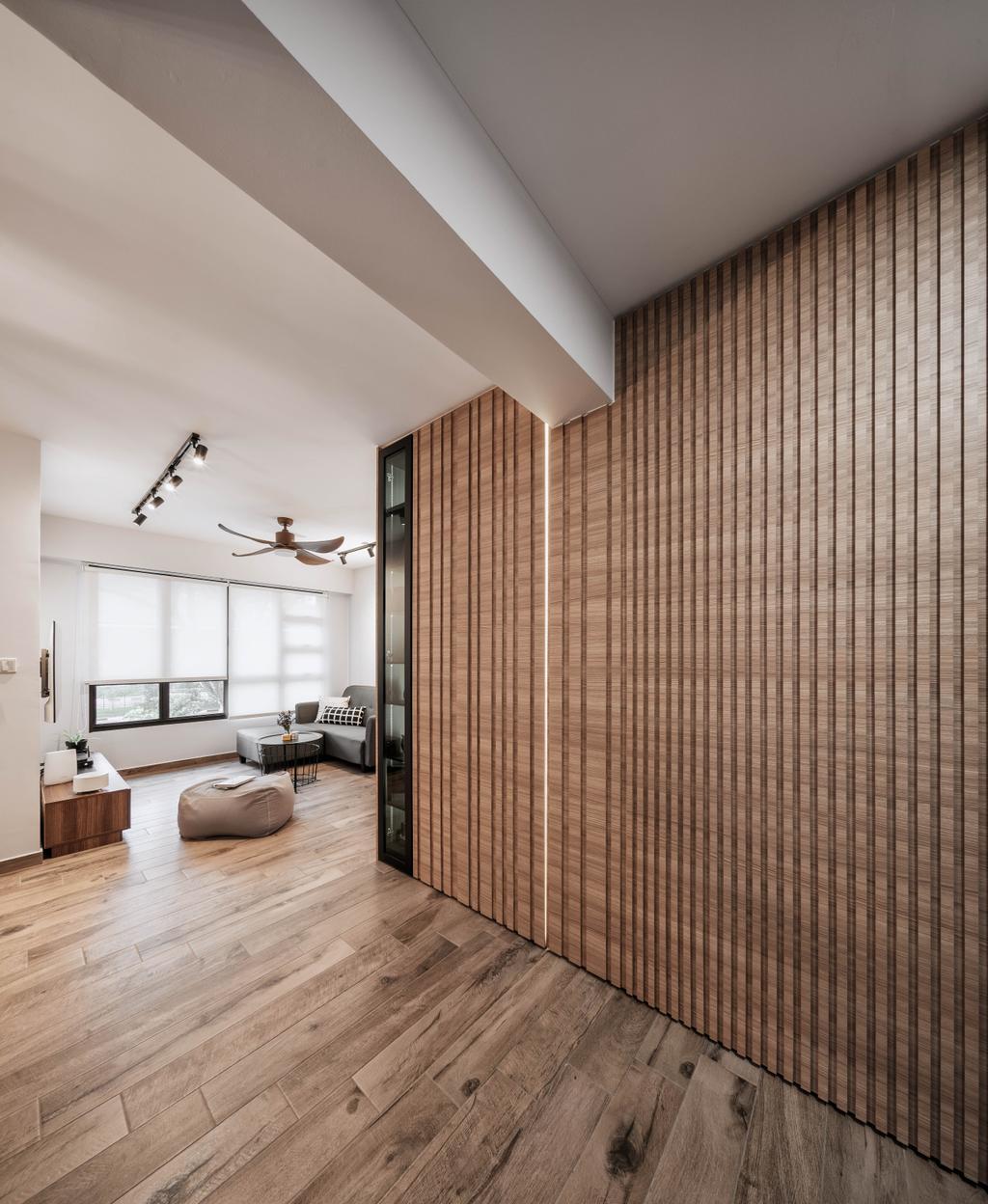 Contemporary, HDB, Living Room, Ghim Moh Link, Interior Designer, Stylemyspace, Molding, Indoors, Interior Design, Flooring