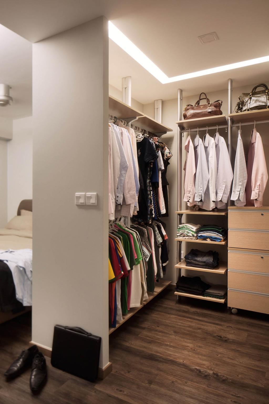 Modern, HDB, Segar Road, Interior Designer, Stylemyspace, Human, People, Person, Apparel, Clothing, Closet, Furniture, Wardrobe