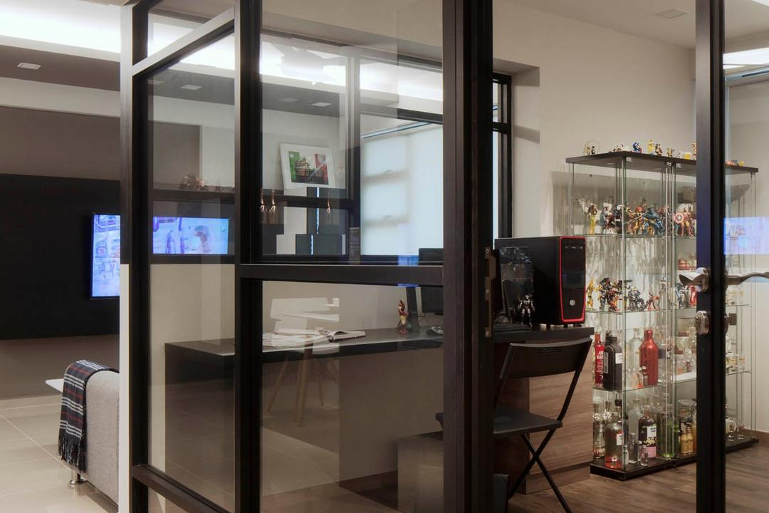Segar Road, Stylemyspace, Modern, Study, HDB, Luggage, Suitcase, Chair, Furniture