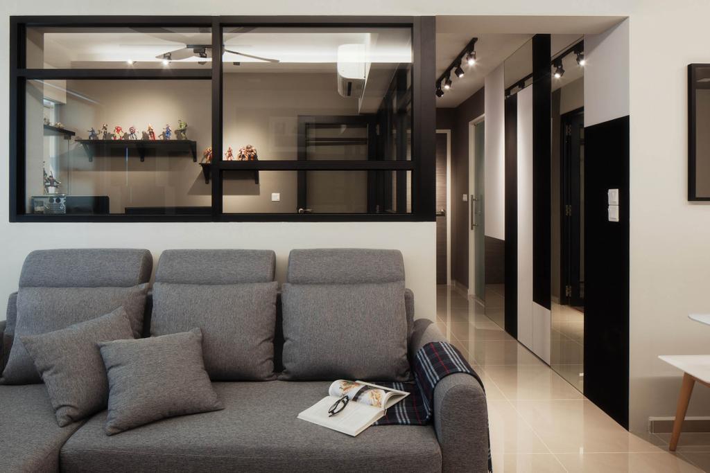 Modern, HDB, Living Room, Segar Road, Interior Designer, Stylemyspace, Couch, Furniture, Chair