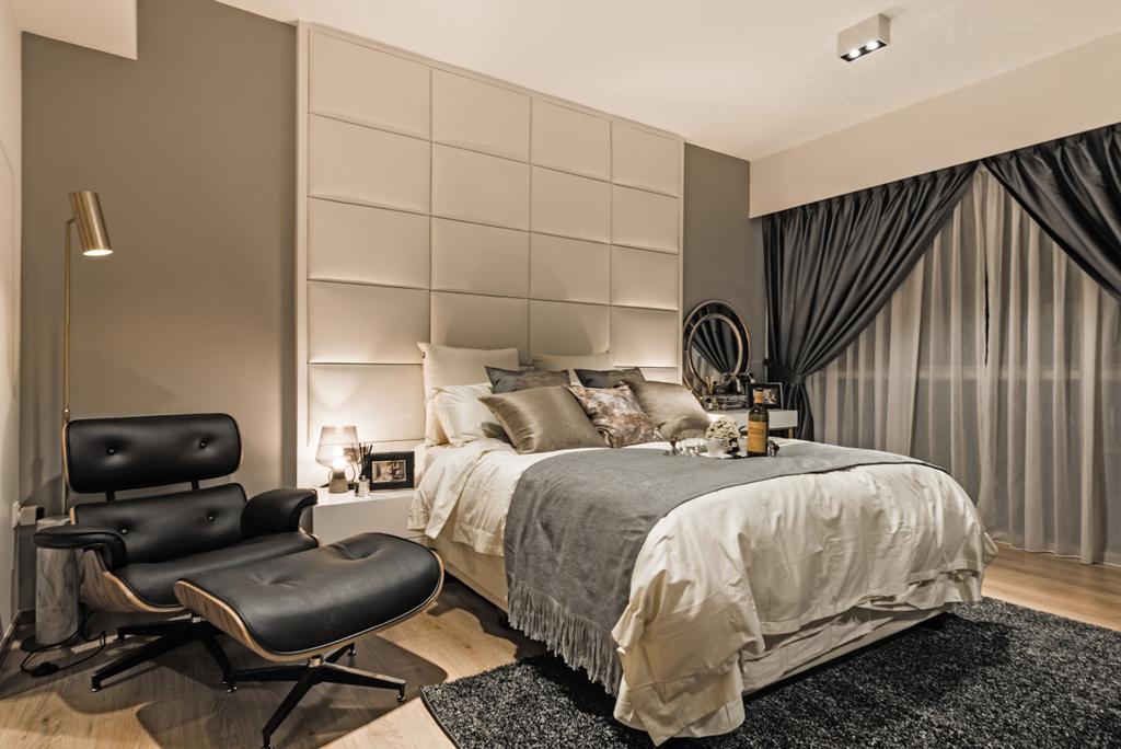 Modern, Condo, Bedroom, The Vales, Interior Designer, Mr Shopper Studio, Chair, Furniture, Indoors, Room, Couch, Interior Design