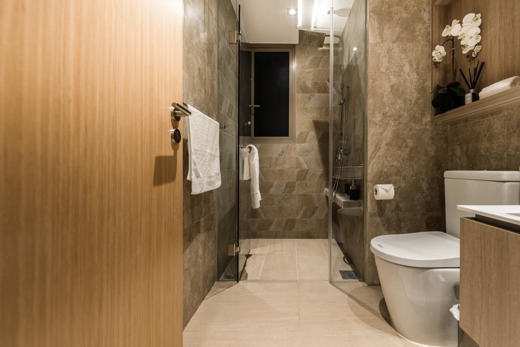 Modern, Condo, The Vales, Interior Designer, Mr Shopper Studio, Toilet, Bathroom, Indoors, Interior Design, Room