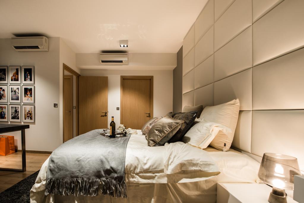 Modern, Condo, Bedroom, The Vales, Interior Designer, Mr Shopper Studio, Art, Art Gallery, Bed, Furniture, Indoors, Interior Design, Shelf