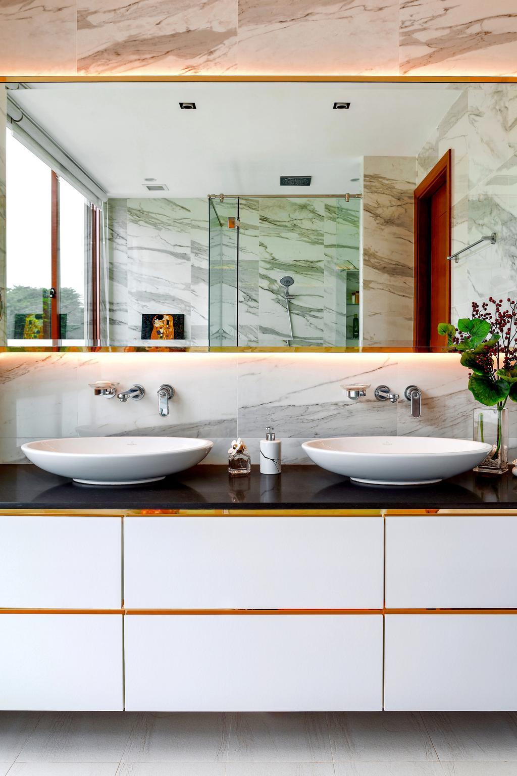 Modern, Landed, Bathroom, Holland Green, Interior Designer, Summerhaus D'zign, Contemporary, Flora, Jar, Plant, Potted Plant, Pottery, Vase, Herbs, Mint, Planter