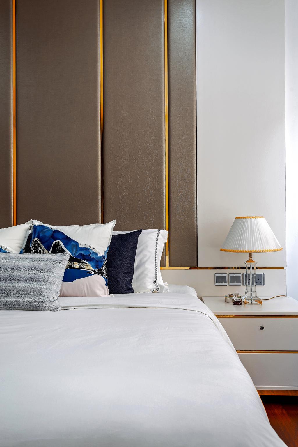 Modern, Landed, Bedroom, Holland Green, Interior Designer, Summerhaus D'zign, Contemporary, Bed, Furniture, Lamp, Lampshade