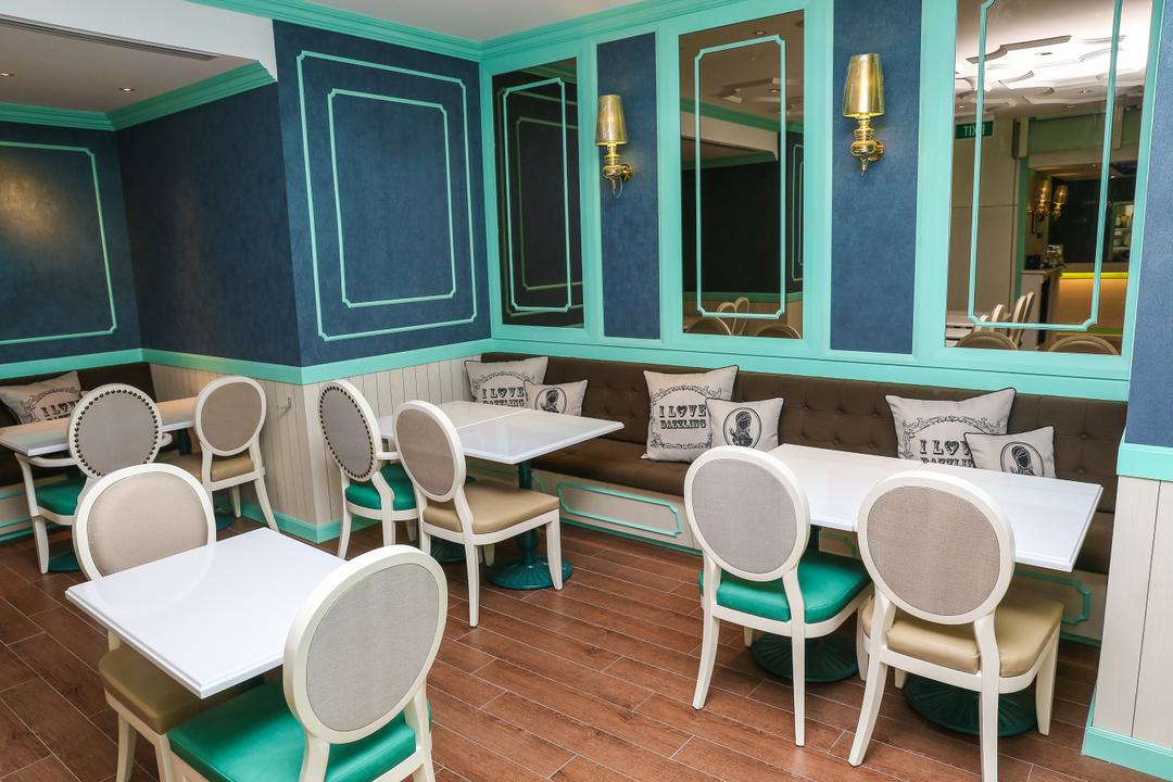 Dazzling Cafe, The Design Practice, Commercial, Chair, Furniture, Blackboard, Dining Room, Indoors, Interior Design, Room, Dining Table, Table, Waiting Room, Cafe, Restaurant