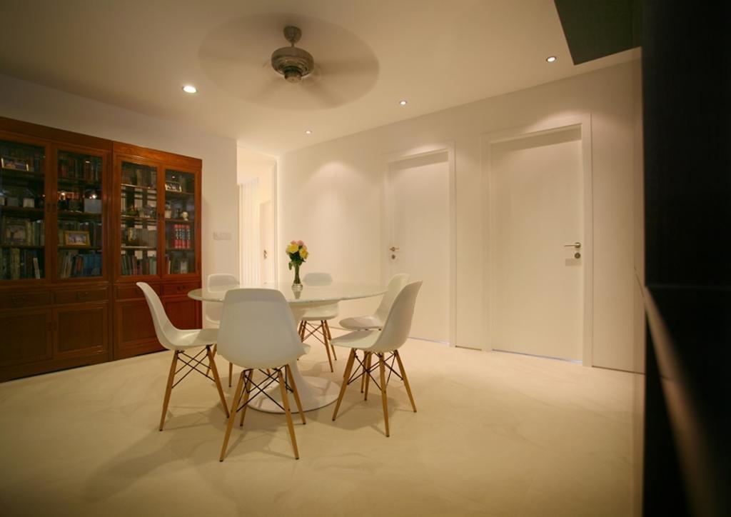 Modern, Condo, Dining Room, Avon Park, Architect, 7 Interior Architecture, Dining Table, Dining Chairs, Ceiling Fan, Display Shelf, Chair, Furniture, Indoors, Interior Design, Room, Sink