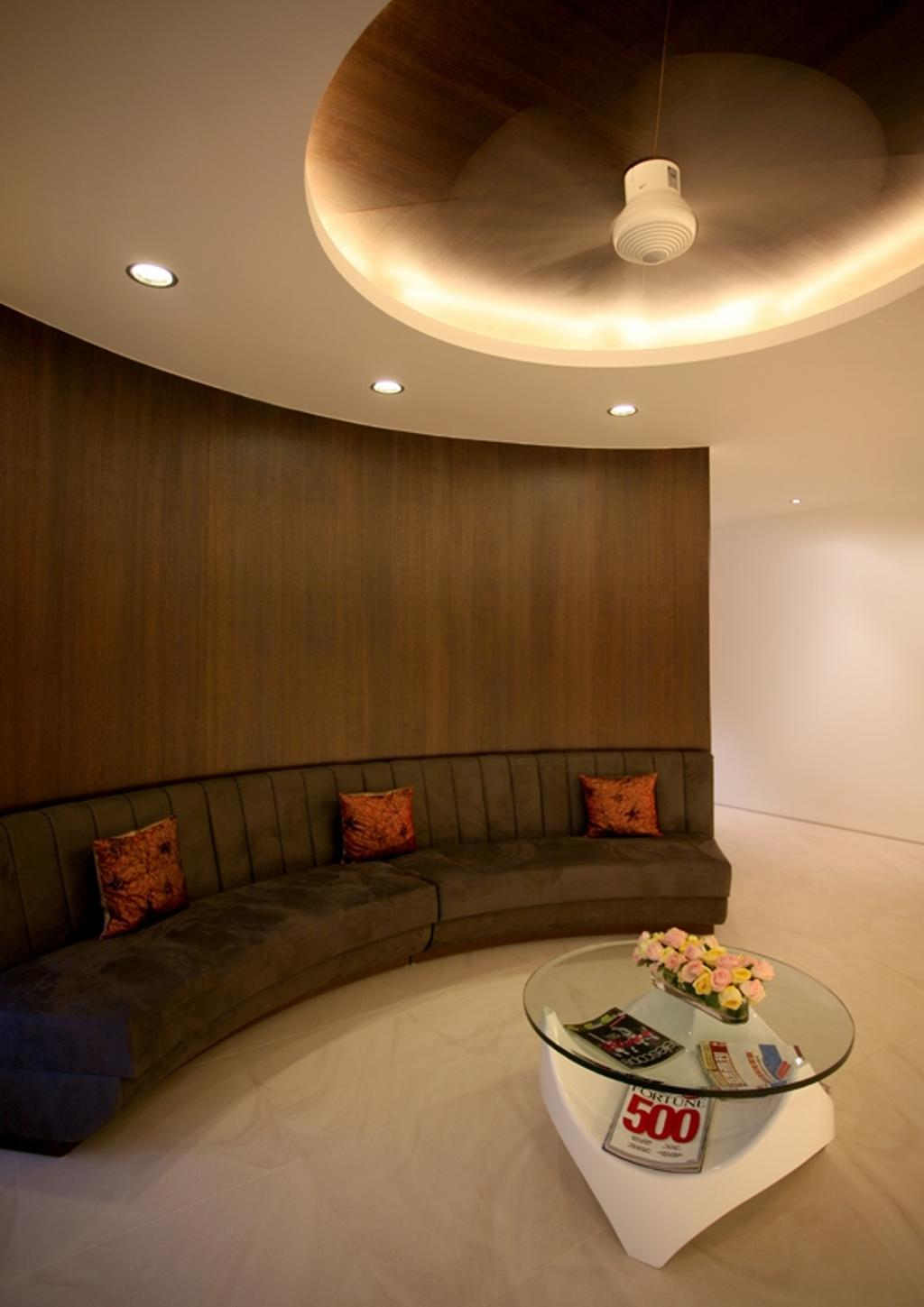 Modern, Condo, Living Room, Avon Park, Architect, 7 Interior Architecture, Curve Sofa, Coffee Table, Tiles, Down Light, Cove Light, Couch, Furniture, Indoors, Room