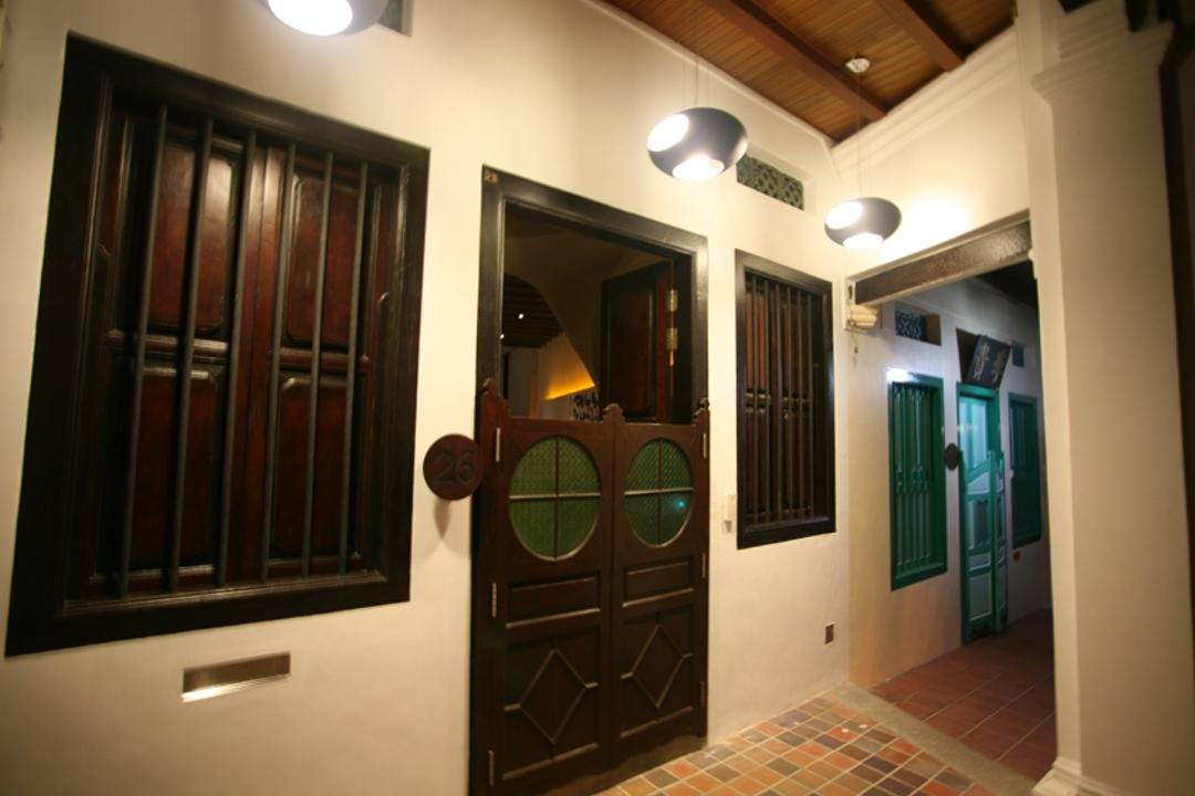 26 Emerald Hill Road, 7 Interior Architecture, Contemporary, Landed, Shophouse, Wood Door, Wood Window, Window Grilll, Entrance, Elevator
