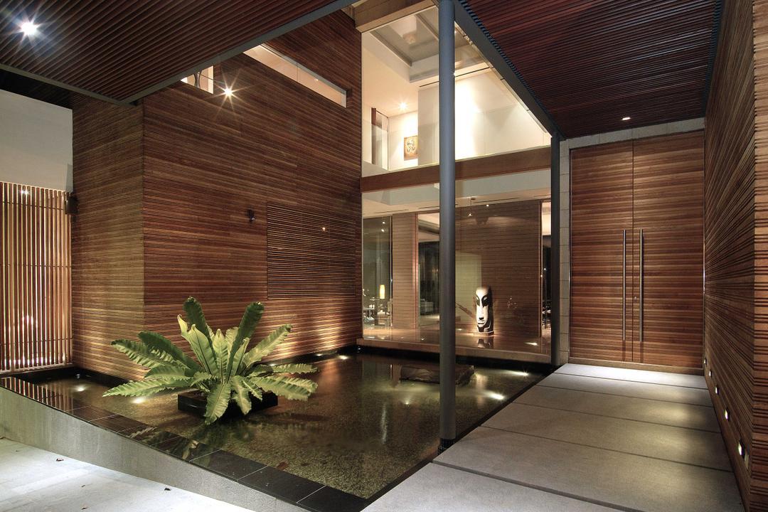 25 Olive Road, 7 Interior Architecture, Contemporary, Landed, Entrance, Pond, Plant, Wood, Indoors, Interior Design, Aloe, Flora