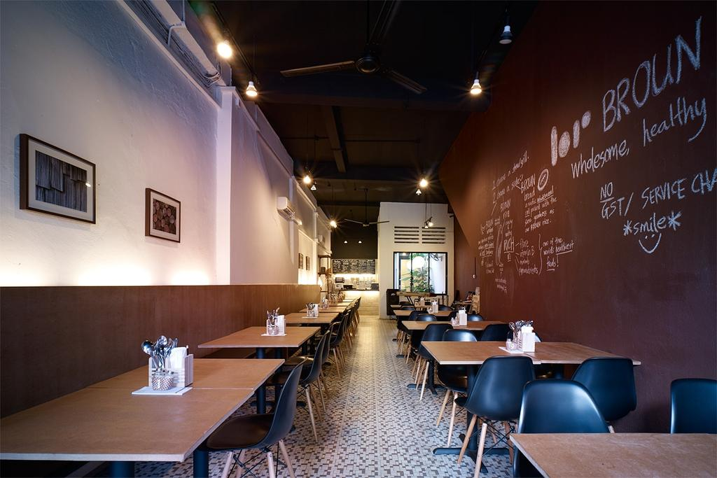 Broun, Commercial, Interior Designer, The Design Abode, Industrial, Dining Tbales, Dining Chairs, Backing, Wood Backingtiles, Chalk Walll, Chair, Furniture, Cafe, Restaurant, Conference Room, Indoors, Meeting Room, Room, Blackboard, Couch