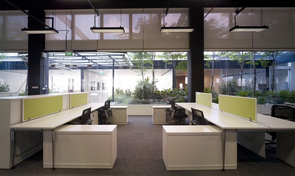 HG Metal HQ & Warehouse, Commercial, Interior Designer, The Design Abode, Minimalistic, Office Table, Office Desk, Rooler Chairs, Desk, Furniture, Table
