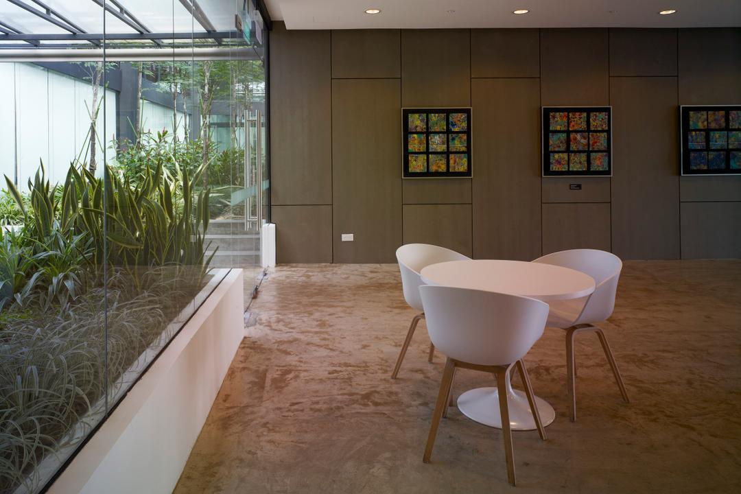 HG Metal HQ & Warehouse, The Design Abode, Minimalistic, Commercial, Round Table, Chairs, Tiles, Chair, Furniture
