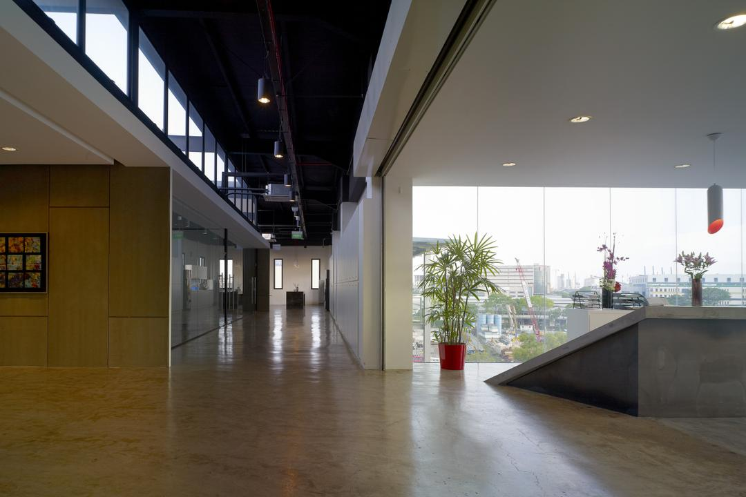 HG Metal HQ & Warehouse, The Design Abode, Minimalist, Commercial, Reception Counter, Tiles, Flora, Jar, Plant, Potted Plant, Pottery, Vase, Architecture, Building, Column, Pillar, Flood, Nature