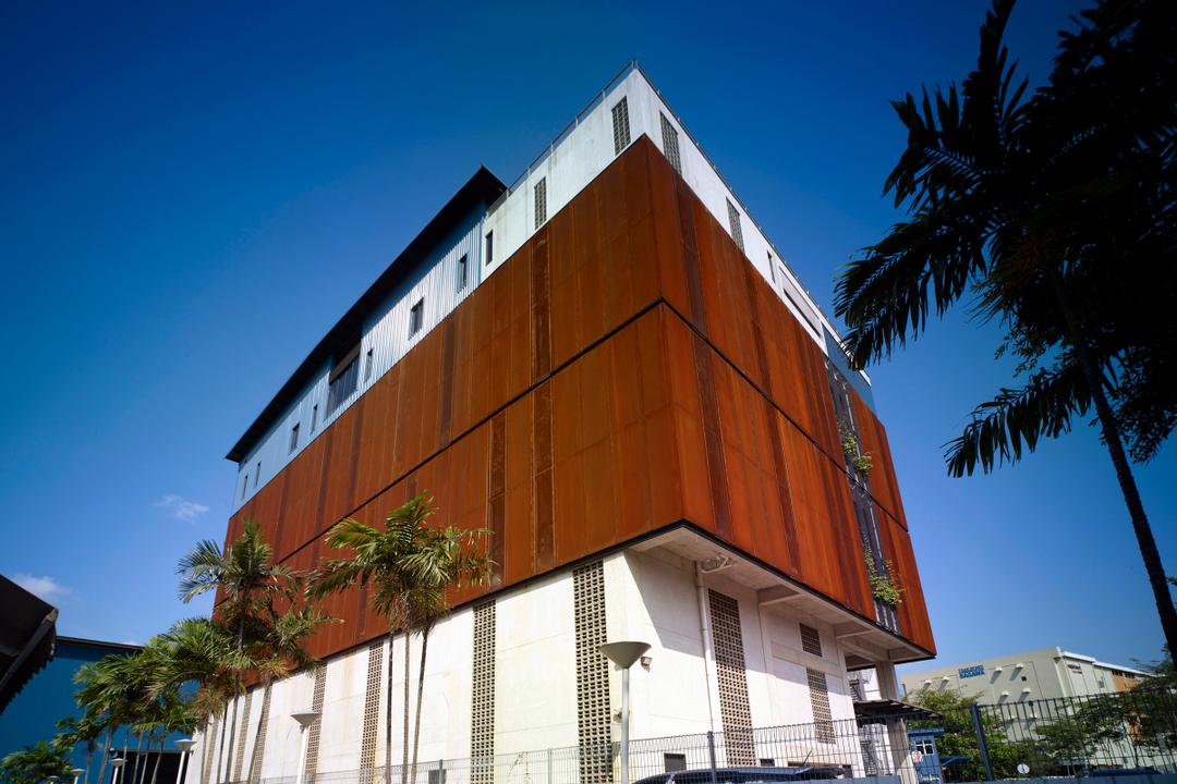 HG Metal HQ & Warehouse, The Design Abode, Minimalist, Commercial, Wood Wall, Building, Office Building, Shipping Container