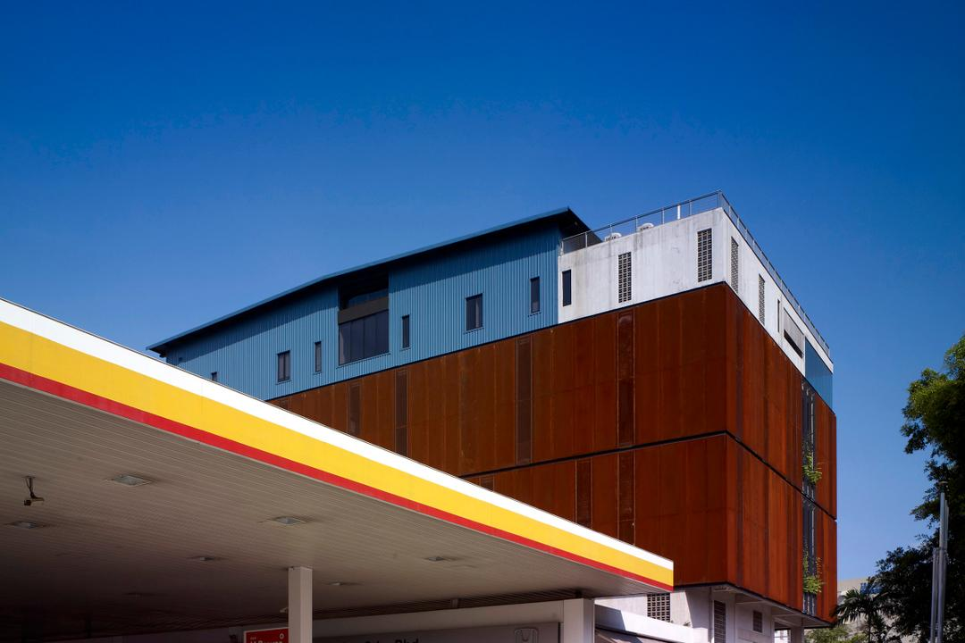 HG Metal HQ & Warehouse, The Design Abode, Minimalistic, Commercial, Petrol Station, Wood Wall
