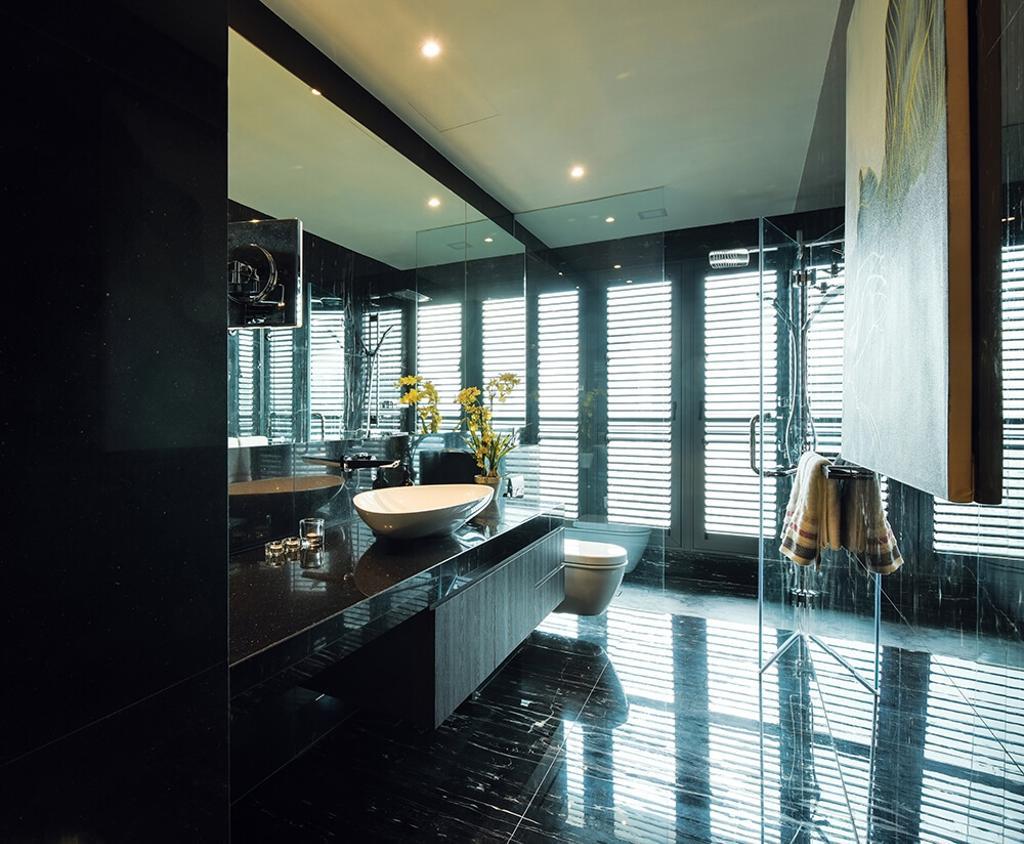 Contemporary, Condo, Bathroom, Setia Sky Residence, Kuala Lumpur, Interior Designer, Hoe & Yin Design Studio, Sink, Pool, Water, Indoors, Interior Design, Room