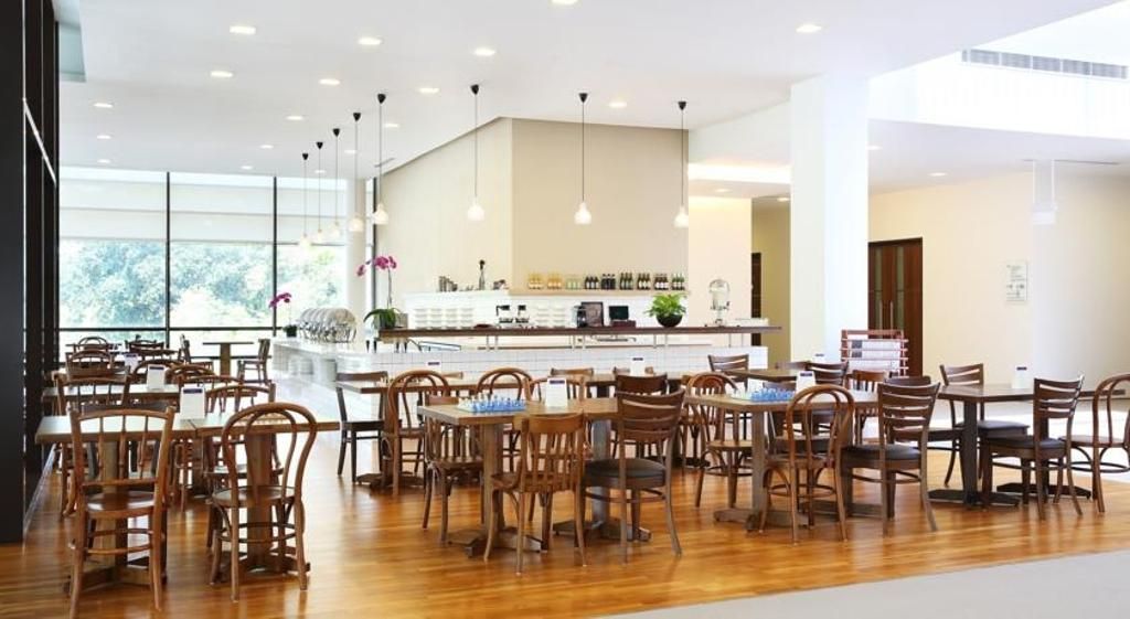 Changi Cove, Commercial, Interior Designer, The Design Abode, Modern, Dining Tbale, Dining Chairs, Parquet, Hanging Lights, Down Light, Dining Table, Furniture, Table, Cafe, Restaurant, Dining Room, Indoors, Interior Design, Room