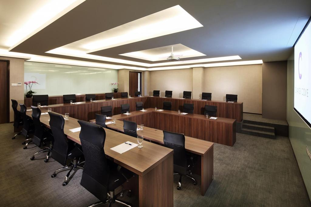 Changi Cove, Commercial, Interior Designer, The Design Abode, Modern, Meeting Tables, Roller Chairs, Down Light, Ceiling Fan, Conference Room, Indoors, Meeting Room, Room, Chair, Furniture