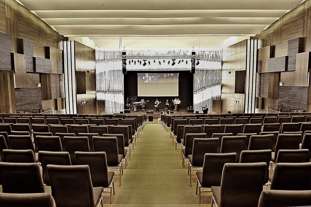 Cornerstone, Commercial, Interior Designer, The Design Abode, Modern, Chairs, Platforms, Stage, Feature Wallscove Light, Chair, Furniture, Couch, Auditorium, Hall, Indoors, Interior Design, Room, Theater, Cinema