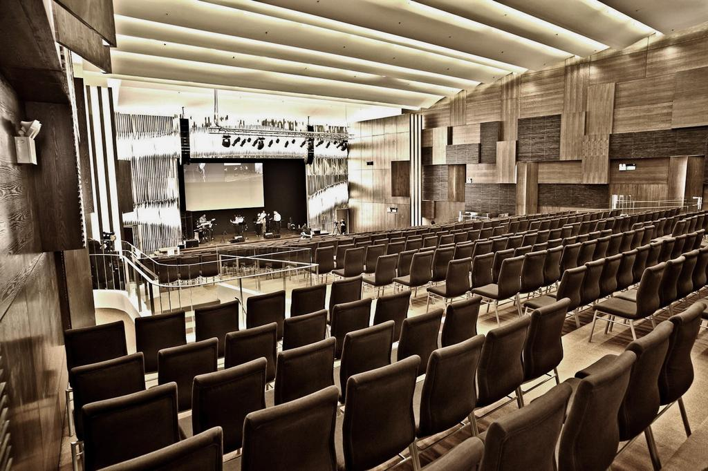 Cornerstone, Commercial, Interior Designer, The Design Abode, Modern, Stage, Chairs, Platform, Feature Wall, Cove Light, Chair, Furniture, Indoors, Interior Design, Room, Theater, Auditorium, Hall