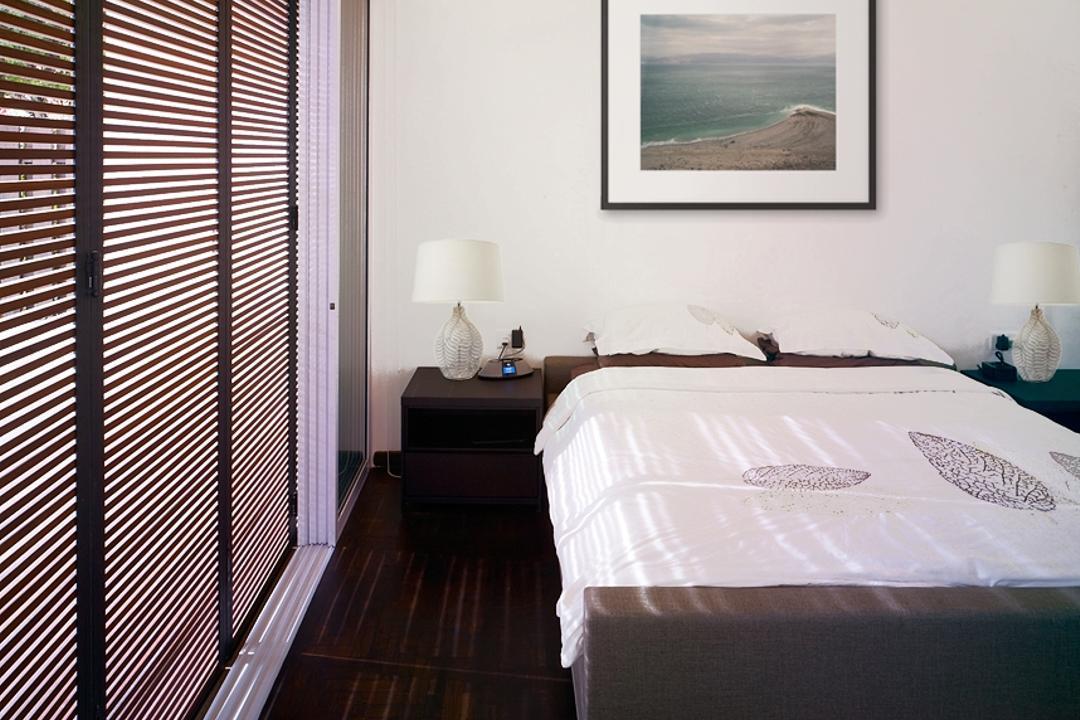 Ceylon Road, The Design Abode, Contemporary, Bedroom, Landed, Blinds, Bes, Bedside Lamps, Floor, Bed, Furniture