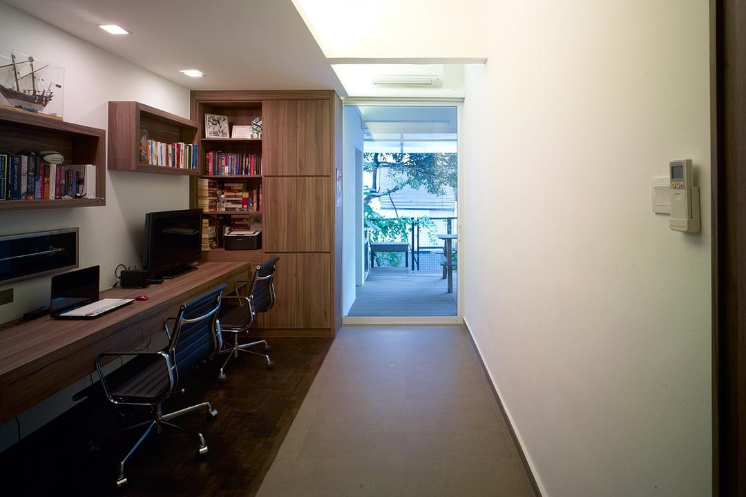 Ceylon Road, The Design Abode, Contemporary, Study, Landed, Study Desk, Computer, Roller Chairs, Down Light, Book Shleves, Shelving, Bookcase, Furniture, HDB, Building, Housing, Indoors, Chair