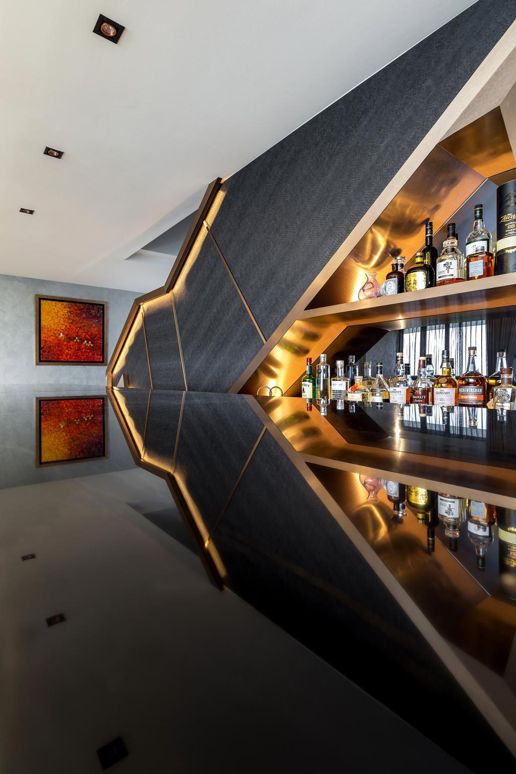Eclectic, Condo, The Interlace, Interior Designer, Summerhaus D'zign, Contemporary, Alcohol, Beverage, Drink, Liquor