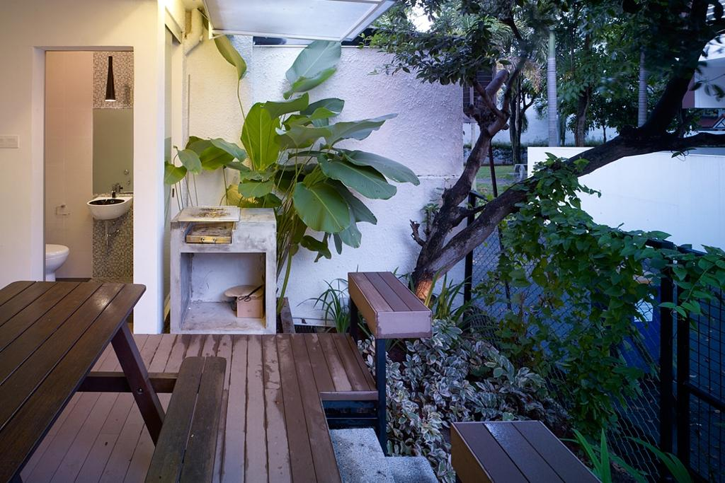 Contemporary, Landed, Kitchen, Ceylon Road, Interior Designer, The Design Abode, Toilet, Bench, Table, Plant, Backyard, Flora, Jar, Potted Plant, Pottery, Vase, Chair, Furniture, Vine