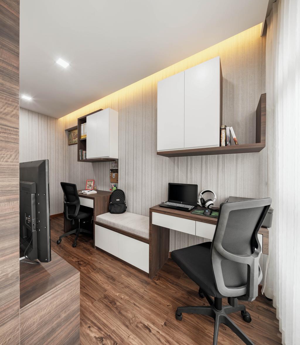 Contemporary, HDB, Study, Taman Jurong, Interior Designer, T&T Design Artisan, Chair, Furniture, Indoors, Interior Design